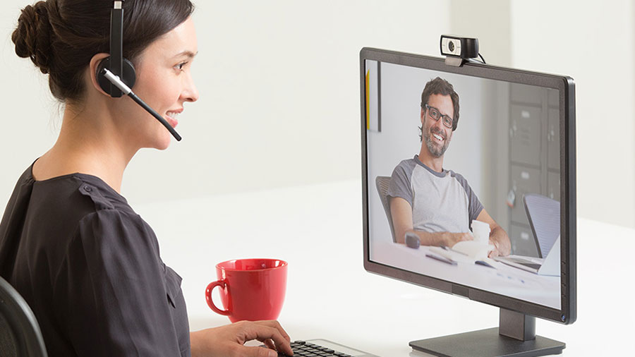 Trabajo remoto con videoconferencia